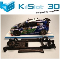 KILSLOT KS-NF1B CHASIS 3D LINEAL BLACK FORD FIESTA WRC SCX