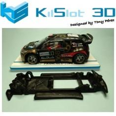 CHASIS 3D LINEAL BLACK CITROEN DS3 WRC SCX KILSLOT