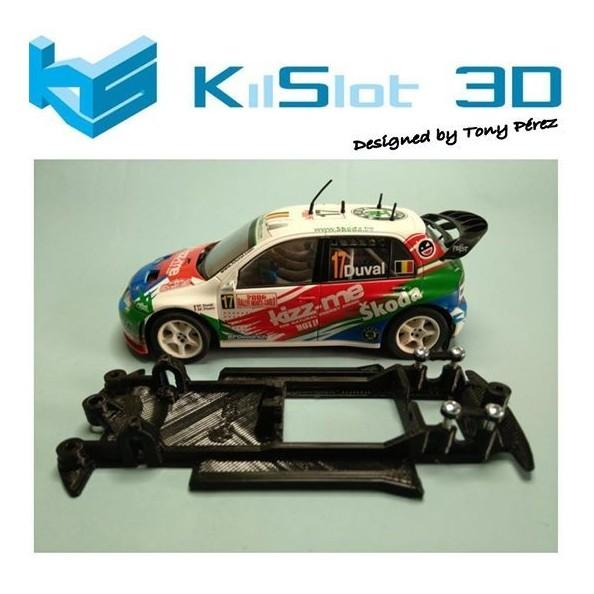 KILSLOT KS-CS2B CHASIS 3D LINEAL BLACK SKODA FABIA WRC SCX