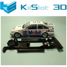 KILSLOT KS-VS1B CHASIS 3D LINEAL BLACK FORD SIERRA NINCO VERSIÓN PISTA PARA MOTOR FLAT