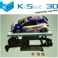 KILSLOT KS-RN4S CHASIS 3D LINEAL RACE SOFT 2017 PEUGEOT 207 AVANT