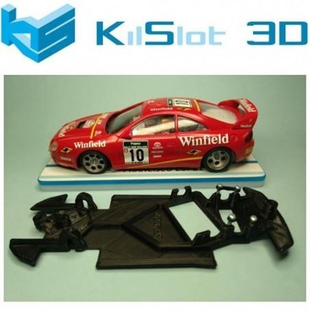 KILSLOT KS-BC2A CHASIS 3D ANGULAR BLACK TOYOTA CELICA GT FOUR ST205 NINCO