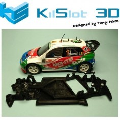 CHASIS 3D ANGULAR RACE SOFT 2017 SKODA FABIA WRC SCX KILSLOT