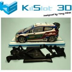 CHASIS 3D ANGULAR RACE SOFT 2017 FORD FIESTA WRC SCX KILSLOT
