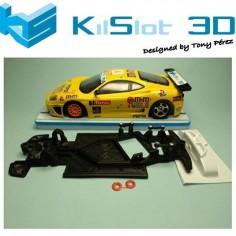 KILSLOT KS-GT1S CHASIS 3D ANGULAR RACE SOFT 2017 FERRARI 360 MODENA NINCO