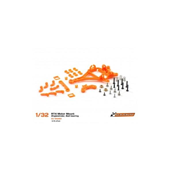 Scaleauto SC-6529A Soporte motor AW RT-4 Offset 0.75 GT para rodamientos