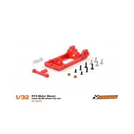 Scaleauto SC-6527C Soporte motor en linea RT3 offset 0,5 extra duro