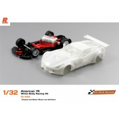 SCALEAUTO A7R GT3 WHITE RACING KIT ANGLEWINDER