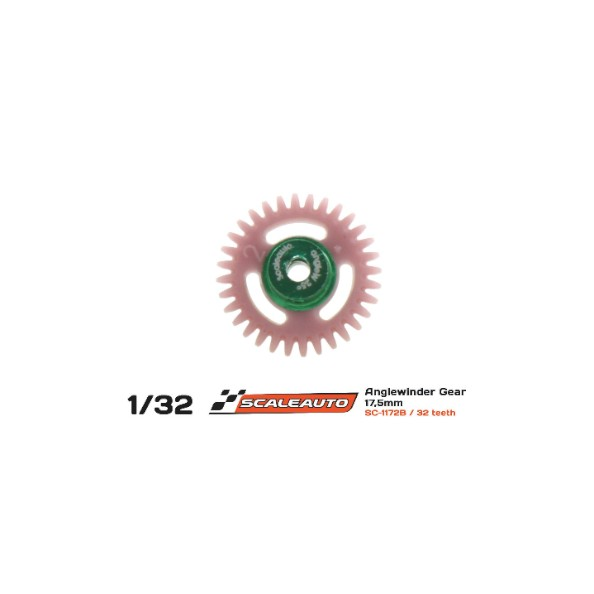 SCALEAUTO SC-1172B CORONA 32 DIENTES POLYAMIDE ANGLEWINDER O18MM REVERSE